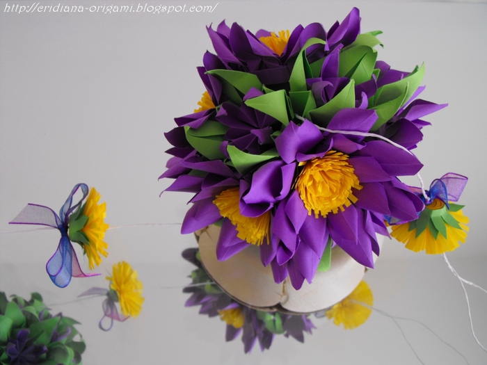 Мастер класс цветы из бумаги кусудама
