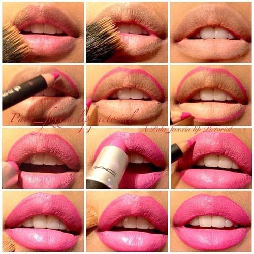 Как сделать матовую помаду на губах
