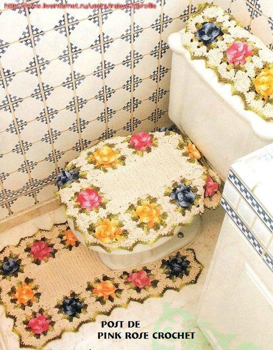 коврики для ванной крючком