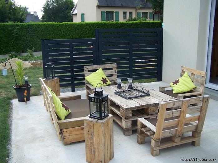 Мебель для сада как сделать