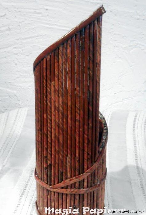 Плетение из газет. Подставки для вина и шампанского (13) (475x700, 214Kb)