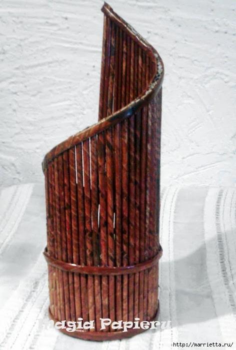 Плетение из газет. Подставки для вина и шампанского (15) (472x700, 208Kb)