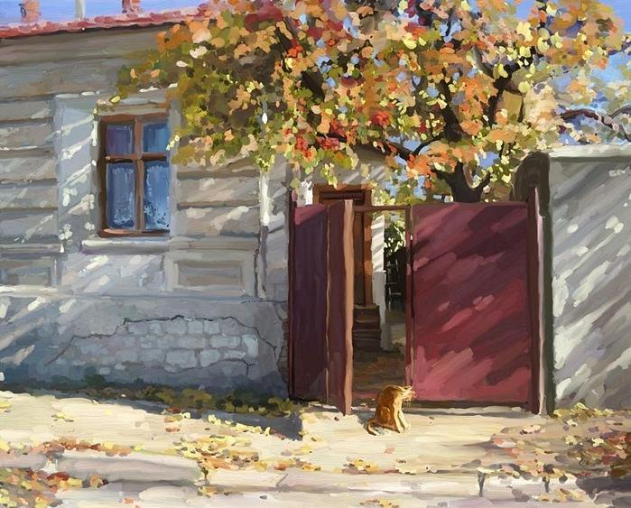 Юшина Елена. Рыжая осень (700x563, 341Kb)
