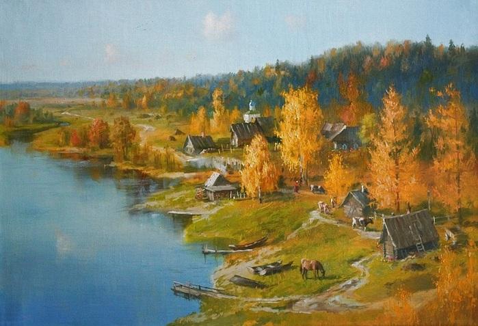 Жданов Владимир. Золотая осень (700x477, 135Kb)