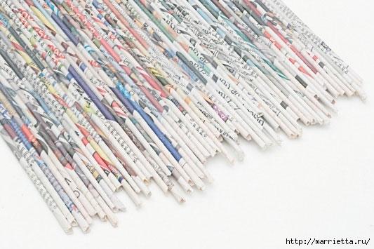 подставка для винных бутылок из газетных трубочек (7) (533x355, 131Kb)