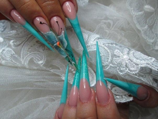 Фото очень длинных нарощенных ногтей 366