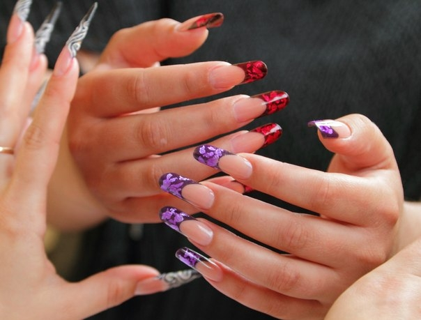 Новогодние дизайны ногтей нарощенных
