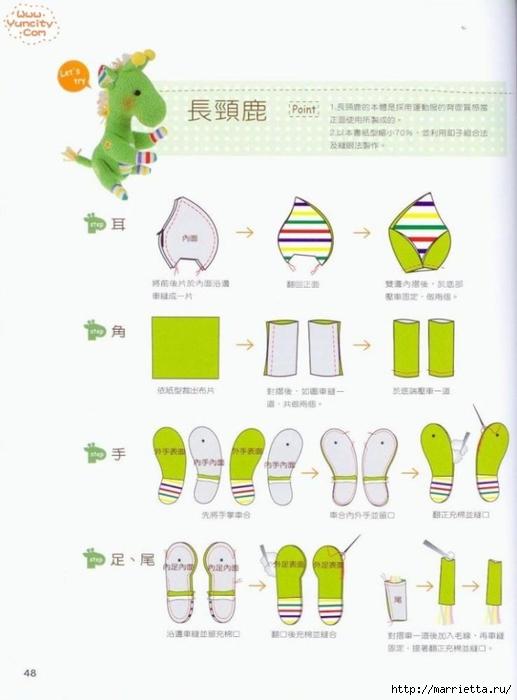 Como costurar um brinquedo de pelúcia.  Livro maravilhoso para iniciantes (46) (517x700, 147Kb)