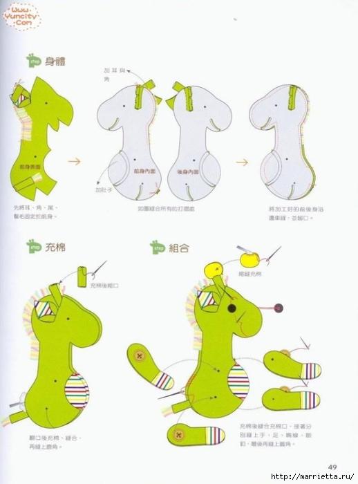 Como costurar um brinquedo de pelúcia.  Livro maravilhoso para iniciantes (47) (518x700, 141 KB)