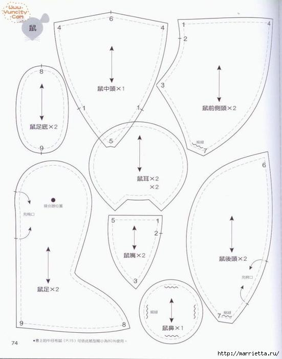 Como costurar um brinquedo de pelúcia.  Livro maravilhoso para iniciantes (87) (551x700, 141 KB)