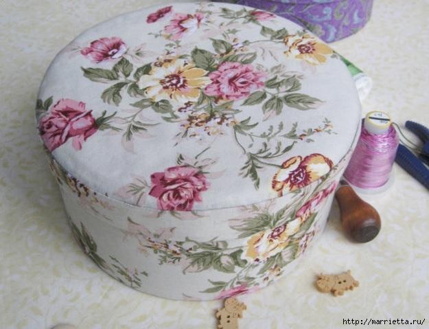 шкатулка из ткани и картона своими руками мастер класс