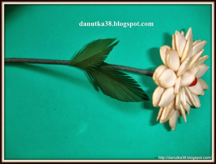 цветы из тыквенных семечек и листьев кукурузы (36) (700x532, 183Kb)