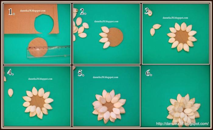 цветы из тыквенных семечек и листьев кукурузы (46) (700x427, 165Kb)
