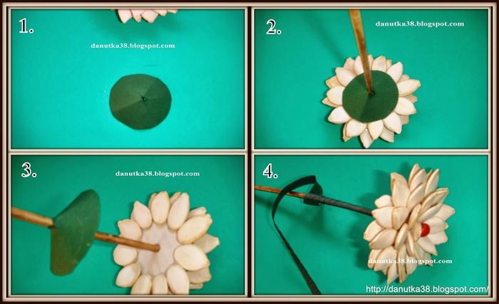 цветы из тыквенных семечек и листьев кукурузы (49) (700x427, 172Kb)