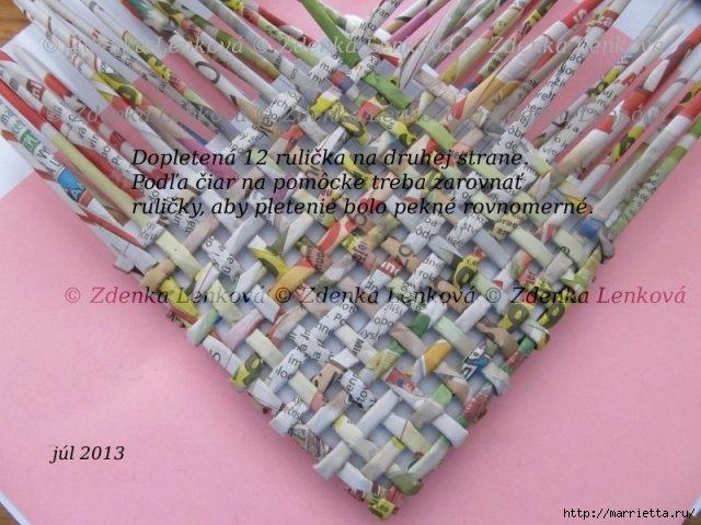 Плетение из газет. Навесная корзинка КАШПО. Мастер-класс (42) (640x480, 185Kb)