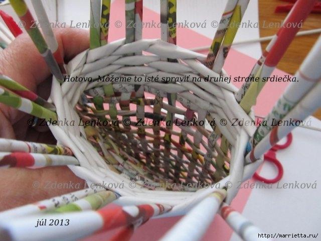 Плетение из газет. Навесная корзинка КАШПО. Мастер-класс (48) (640x480, 161Kb)