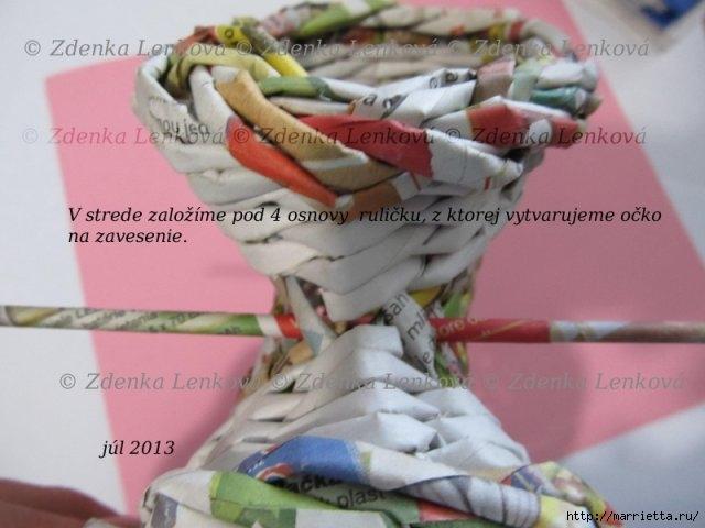 Плетение из газет. Навесная корзинка КАШПО. Мастер-класс (53) (640x480, 133Kb)