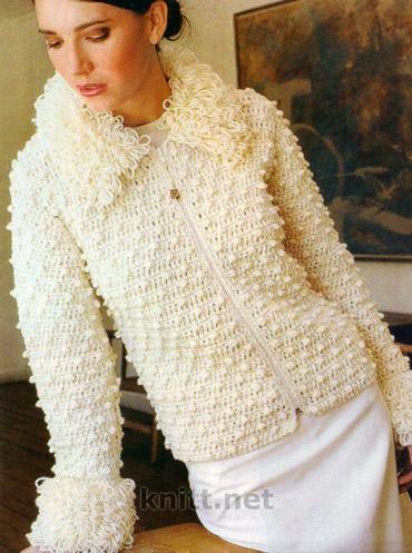 Вязание куртки и схема