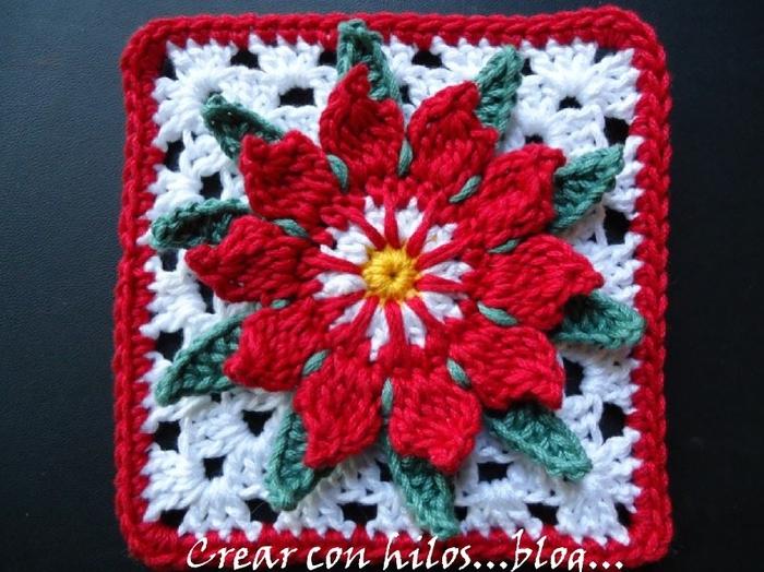 Цветок кактуса. Мотив крючком по уроку