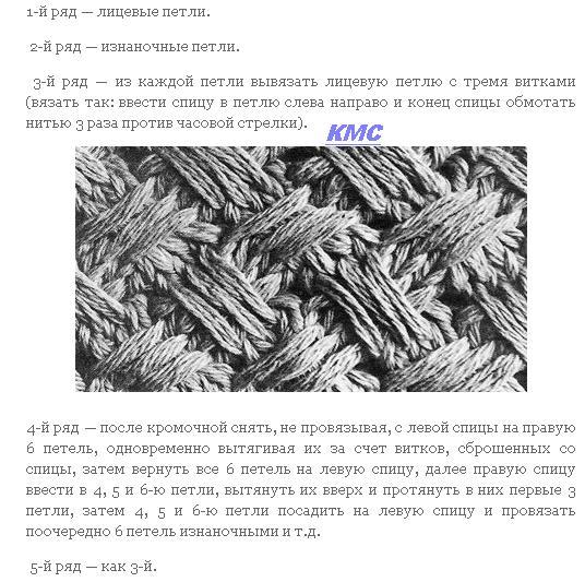 узоры для шапки спицами схемы и описание плетенка