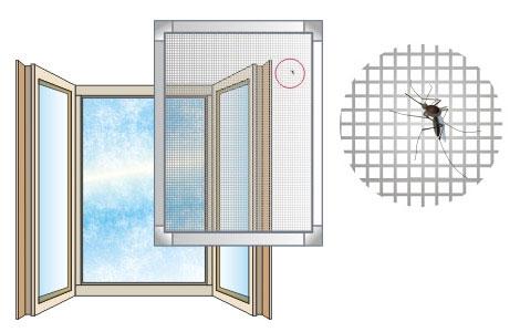 Противомоскитные сетки на пластиковые окна своими руками