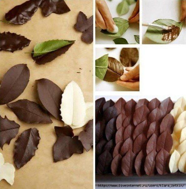 шоколадные листики (596x604, 156Kb)