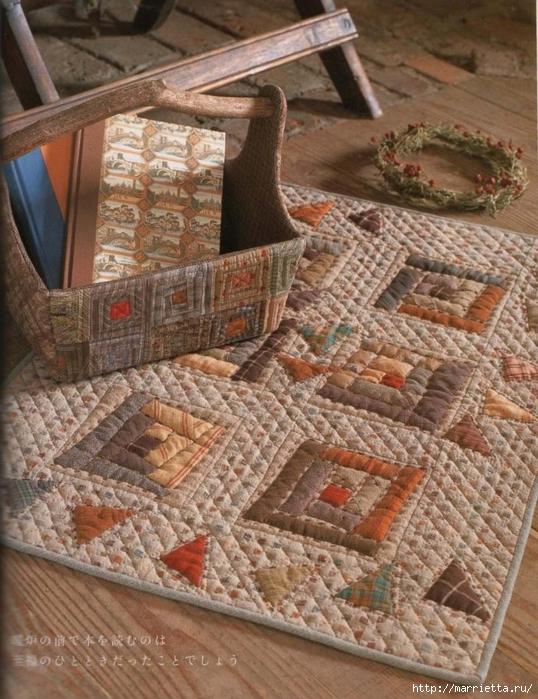 Лоскутное шитье ПЭЧВОРК для дома. Японская книжка с красивыми идеями (27) (538x700, 336Kb)