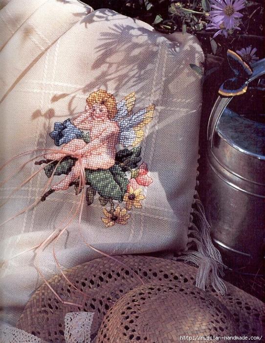 Примеры красивой винтажной вышивки. Журнал со схемами (8) (542x699, 397Kb)