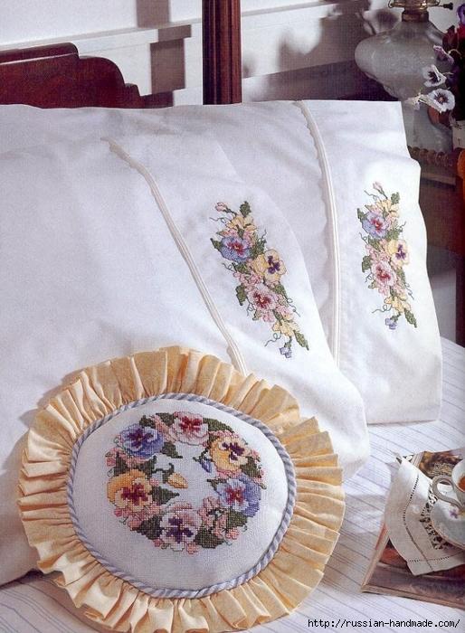 Примеры красивой винтажной вышивки. Журнал со схемами (36) (514x700, 307Kb)