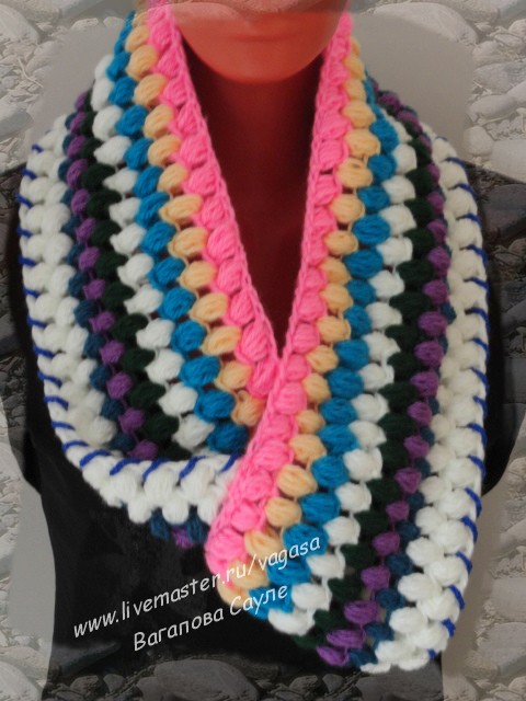 шарф в этно стиле