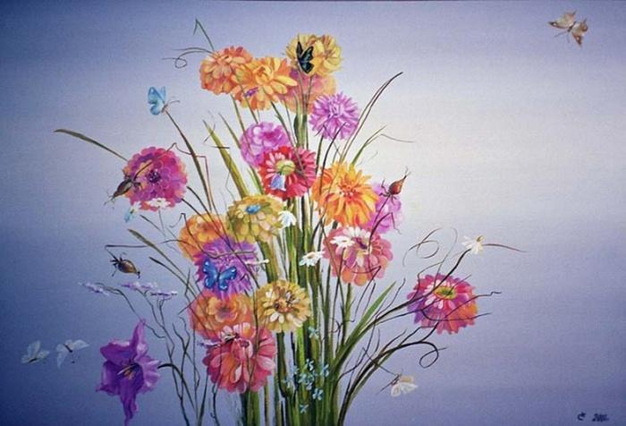 Сивенков Николай. Цветы (700x476, 116Kb)