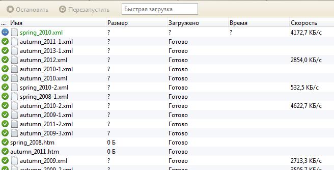Загрузка ссылок со страницы в Opera