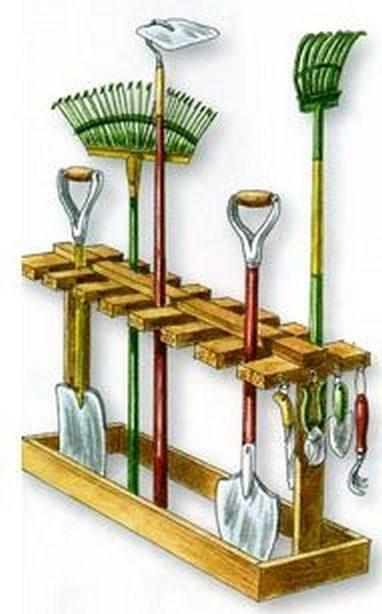Подставка для садовых инструментов
