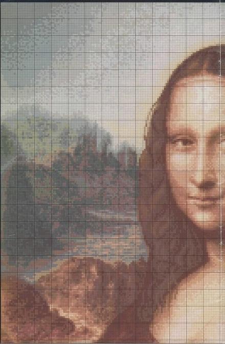 Мона лиза схема для вышивки