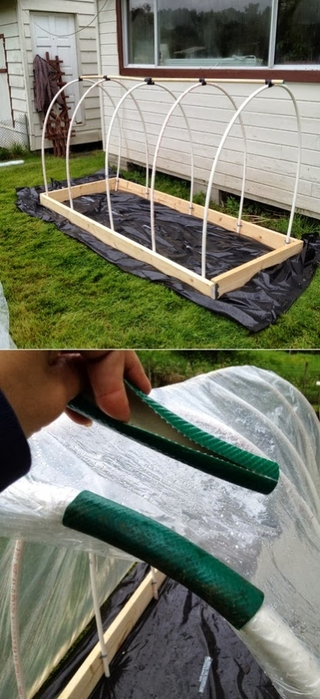 How to reuse pieces of an old garden hose (1) (280x580, 187Kb