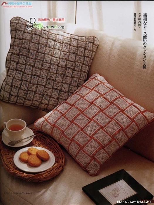 Лоскутное шитье из полосок ткани. Журнал (37) (525x700, 315Kb)