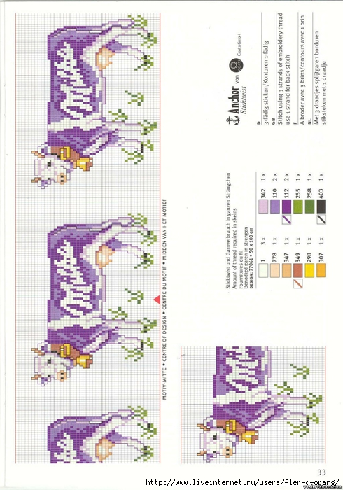 Схемы вышивки коровки milka