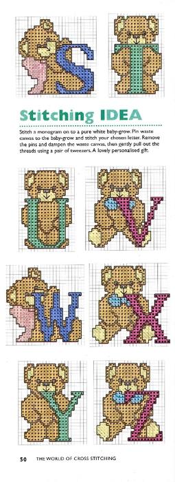 50 - Teddy Alphabet (255x700, 150Kb)