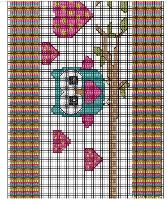 вышивка крестом. идеи со схемами (3) (556x667, 526Kb)