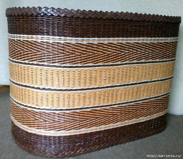 Плетение из газет. Мастер-класс и примеры применения фигурной косички (4) (632x549, 324Kb)