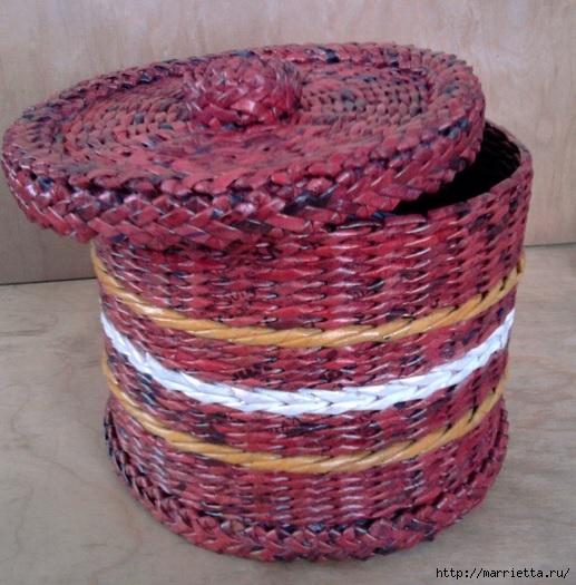 Плетение из газет. Мастер-класс и примеры применения фигурной косички (9) (517x525, 194Kb)
