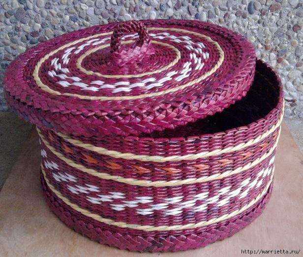 Плетение из газет. Мастер-класс и примеры применения фигурной косички (17) (616x522, 295Kb)