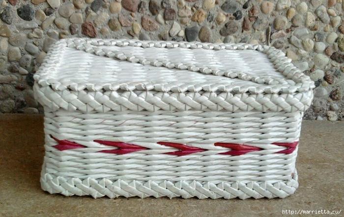 Плетение из газет. Мастер-класс и примеры применения фигурной косички (19) (700x442, 279Kb)