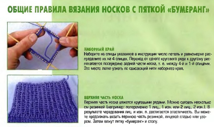 Вязание пятки носка спицами описание фото 65