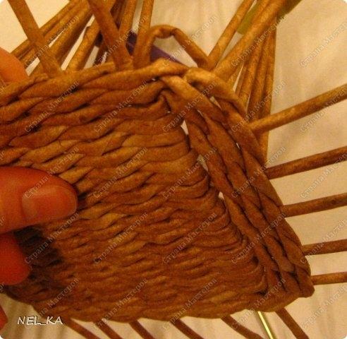 Плетение из газет. Чайный домик. Мастер-класс (3) (492x480, 141Kb)