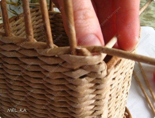 Плетение из газет. Чайный домик. Мастер-класс (17) (520x398, 116Kb)