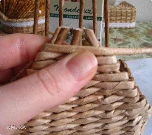 Плетение из газет. Чайный домик. Мастер-класс (21) (520x462, 125Kb)