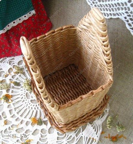 Плетение из газет. Чайный домик. Мастер-класс (31) (444x480, 166Kb)