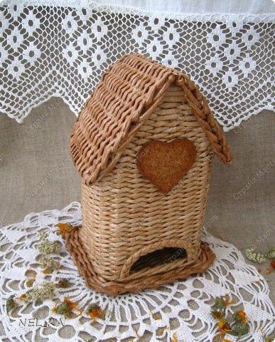 Плетение из газет. Чайный домик. Мастер-класс (33) (387x480, 165Kb)