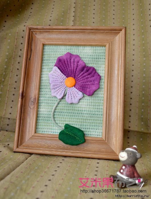 Текстильное панно с цветком (2) (531x700, 294Kb)